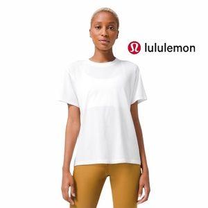 Lululemon White Pima Cotton All Yours Tee